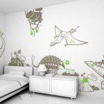 Desain Dinding Kamar Tidur Dengan Lukisan Kreatif Unik
