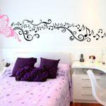 Desain Dinding Kamar Tidur Dengan Wallpaper
