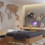 Desain Dinding Kamar Tidur Laki Laki