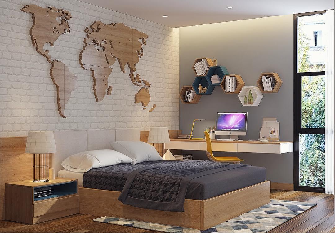 20 desain dinding kamar tidur minimalis kreatif 2019 | dekor rumah