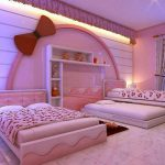 Desain Kamar Tidur Pink Mewah Modern Shabby Chic