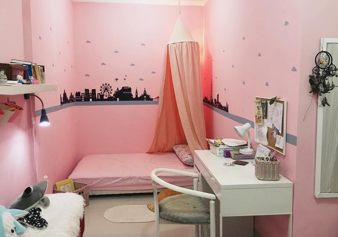 Desain Kamar Warna Pink