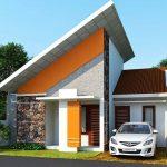 Foto Rumah Minimalis Satu Lantai Teras Batu Alam
