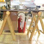 Kerajinan Meja Dari Bambu