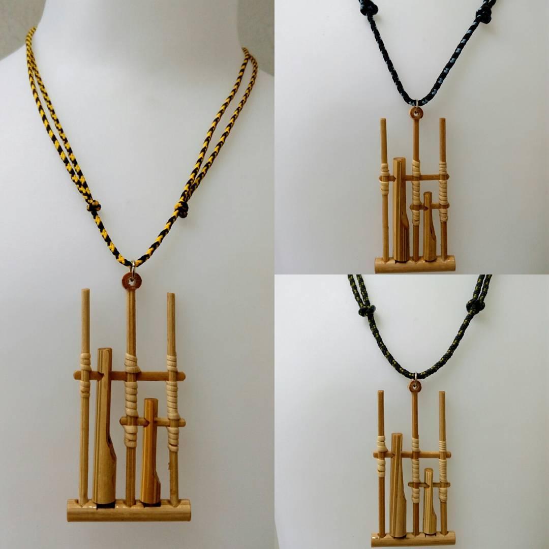 Kerajinan Tangan Dari Bambu Berbentuk Kalung Lucu