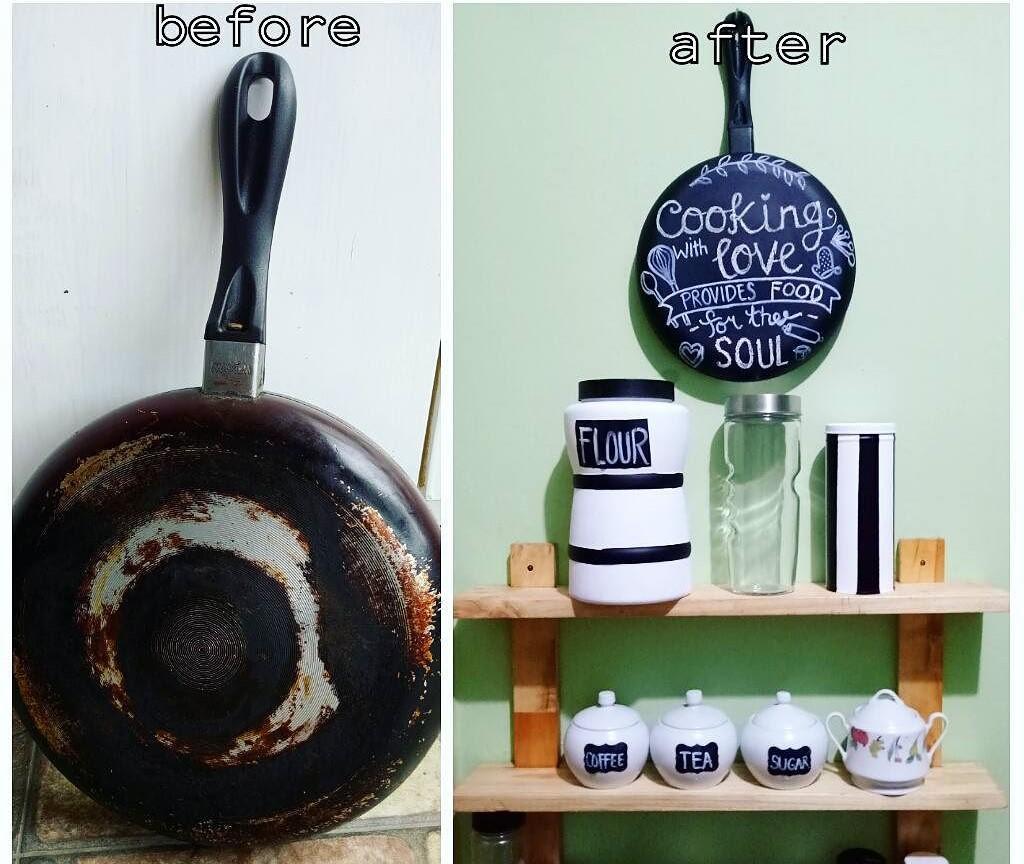 Kerajinan Tangan Dari Bekas Teflon Untuk Hiasan Dinding Dapur By Fathyaekananda