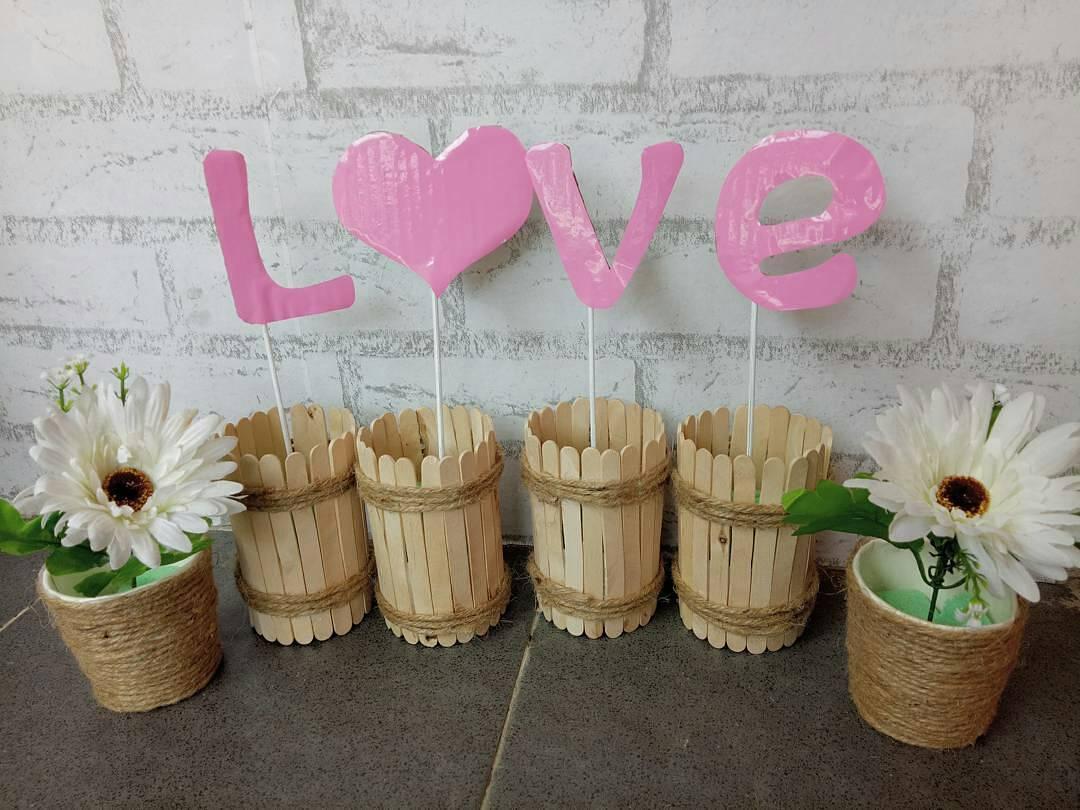26 ide kerajinan tangan dari barang bekas untuk dekor rumah 2018 kerajinan tangan dari stik es krim kardus tusuk sate untuk dekorasi rumah thecheapjerseys Images