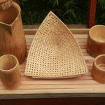 Kerajinan Tangan Gelas Nampan Dari Bambu