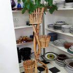 Kerajinan Tempat Vas Bunga Dari Bambu