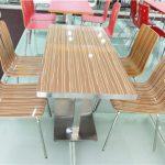 Model Kursi Meja Cafe Restoran Plastik Besi Minimalis