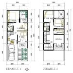 Denah Rumah Minimalis Type 36 2 Lantai 3 Kamar Tidur