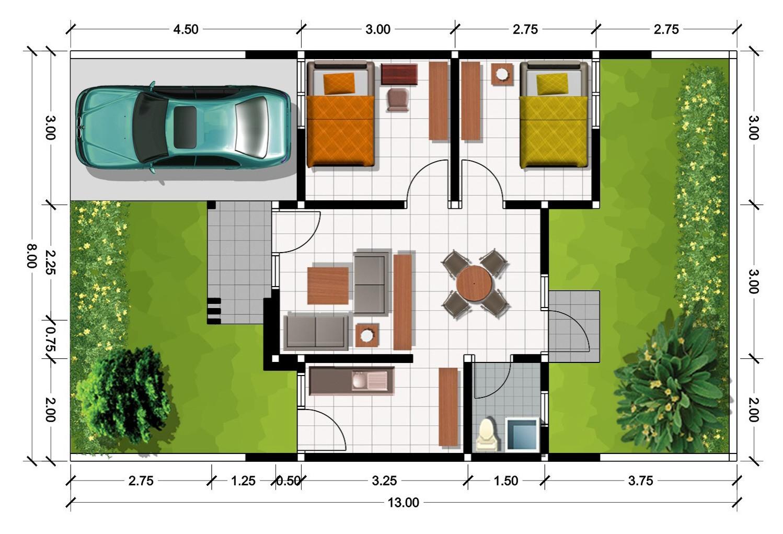 11 Denah  Rumah  Minimalis  Type 36 Terbaru  2019 Dekor Rumah