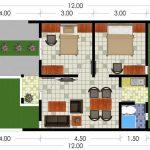 Gambar Denah Rumah Minimalis Type 36 1 Lantai