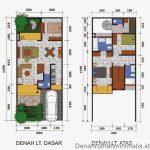 Gambar Denah Rumah Minimalis Type 36 2 Lantai 3 Kamar Tidur