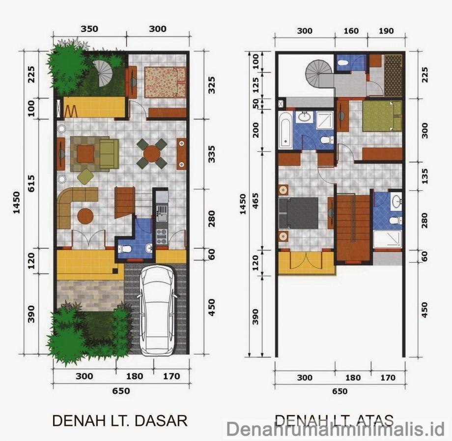 11 Denah Rumah Minimalis Type 36 Terbaru 2017 Dekor Rumah
