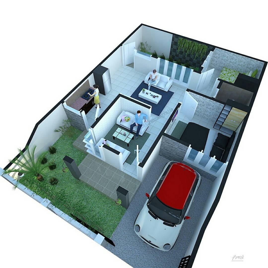 Sketsa Denah Rumah Type 36 Renovasi Terbaru | Denahom