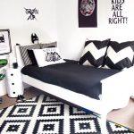Gambar Desain Kamar Tidur Hitam Putih