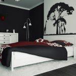 Model Desain Kamar Tidur Hitam Putih