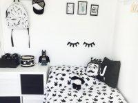 Desain Kamar Tidur Hitam Putih Anak Perempuan