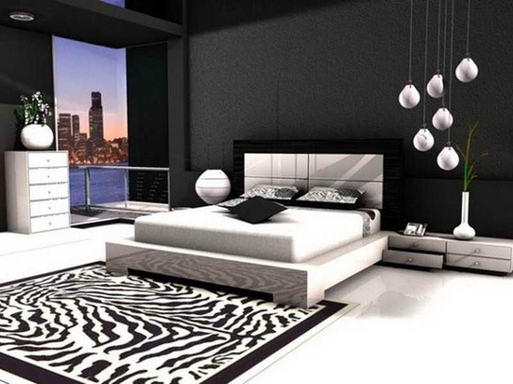 Desain R Tidur Hitam Putih Sederhana Modern