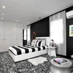 Desain Kamar Tidur Monochrome