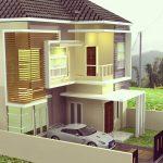 Desain Rumah Modern 2 Lantai Minimalis
