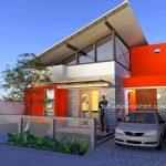 Desain Rumah Modern Dengan Atap Miring Minimalis