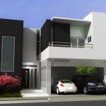 Desain Rumah Modern Mewah Minimalis Tampak Depan