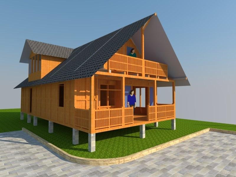 Desain Rumah Panggung Kayu Minimalis Sederhana