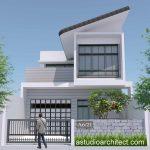 Foto Rumah Modern 2 Lantai Mewah Minimalis