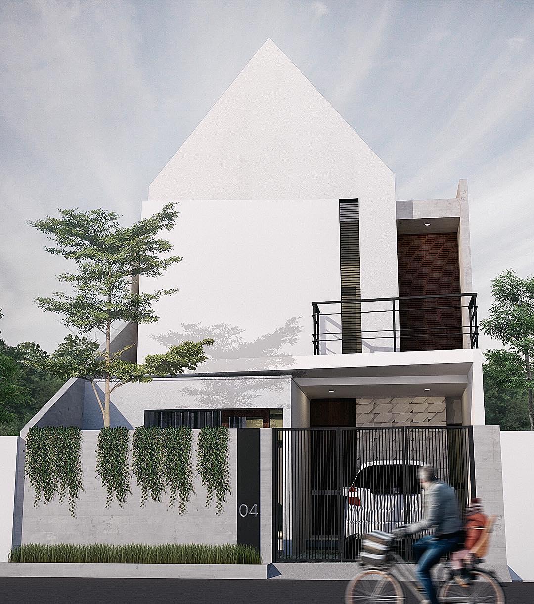 Gambar Rumah Sederhana 2 Lantai Modern