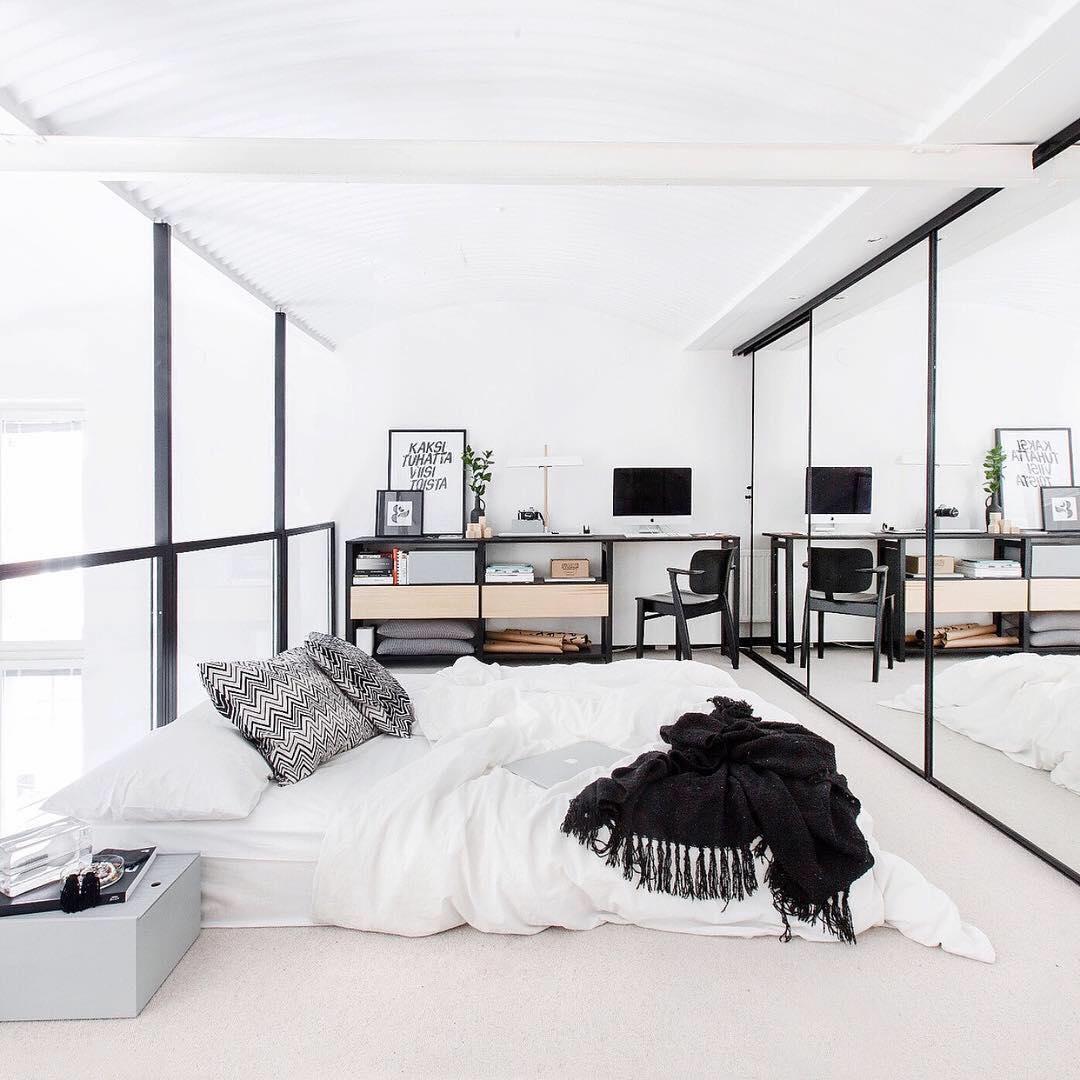 18 desain kamar tidur apartemen minimalis terbaru 2018 for Minimalist wall decor ideas