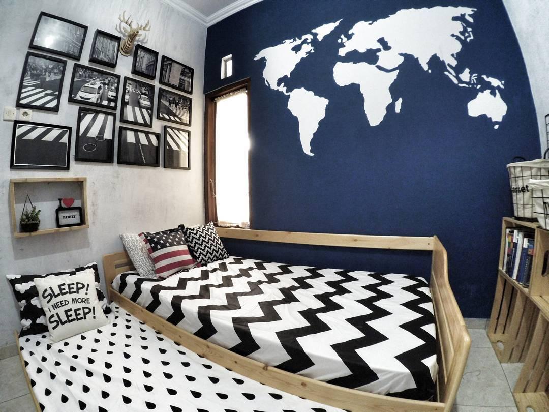 18 model desain kamar tidur hitam putih terbaru 2019 | dekor rumah