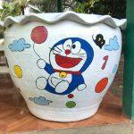 Desain Pot Vas Bunga Doraemon