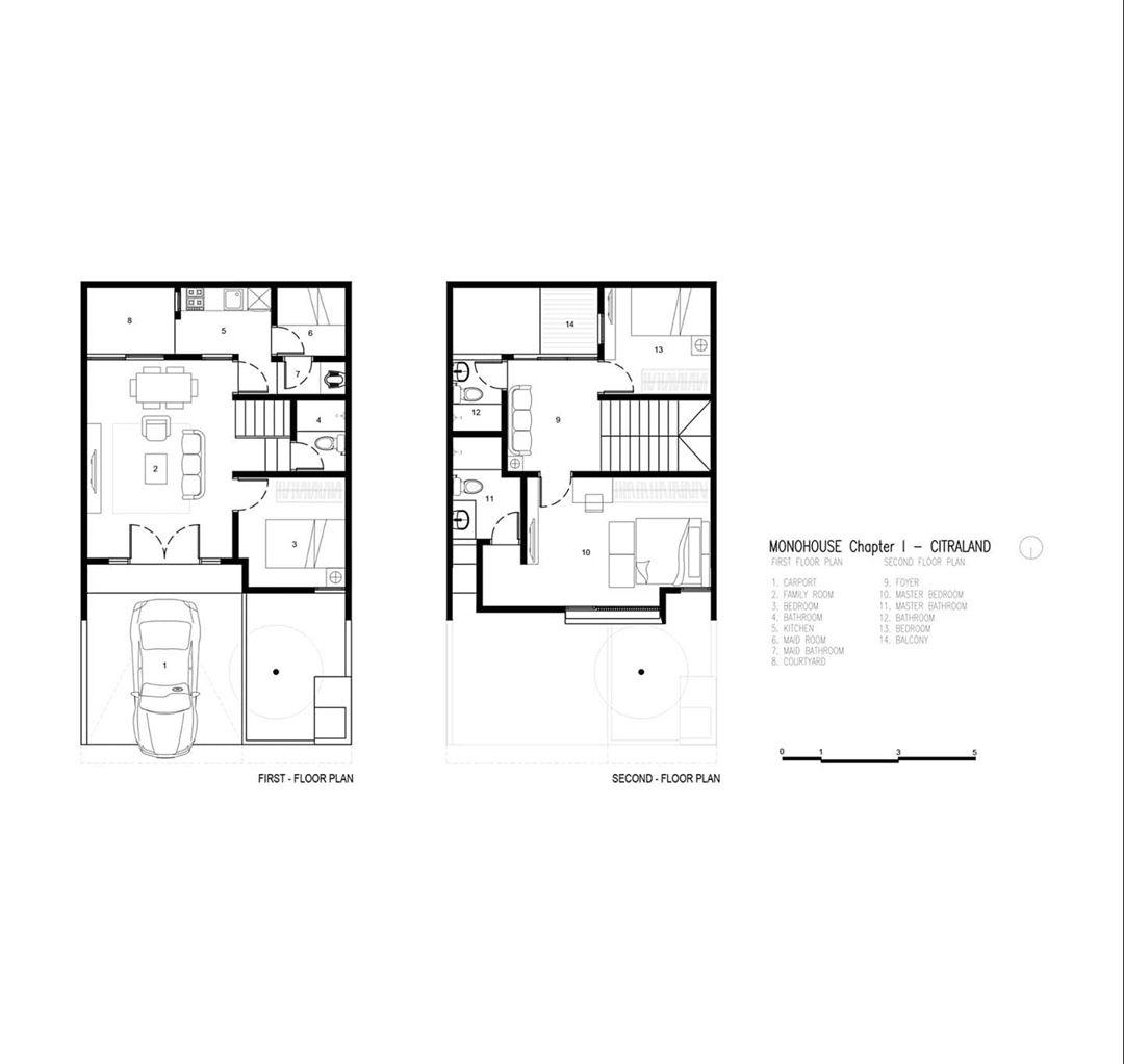 Denah Model Rumah Minimalis 2 Lantai Terbaru