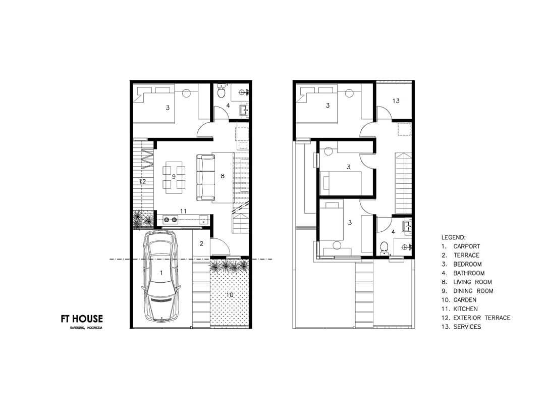 Denah Model Rumah Minimalis Sederhana Tampak Depan