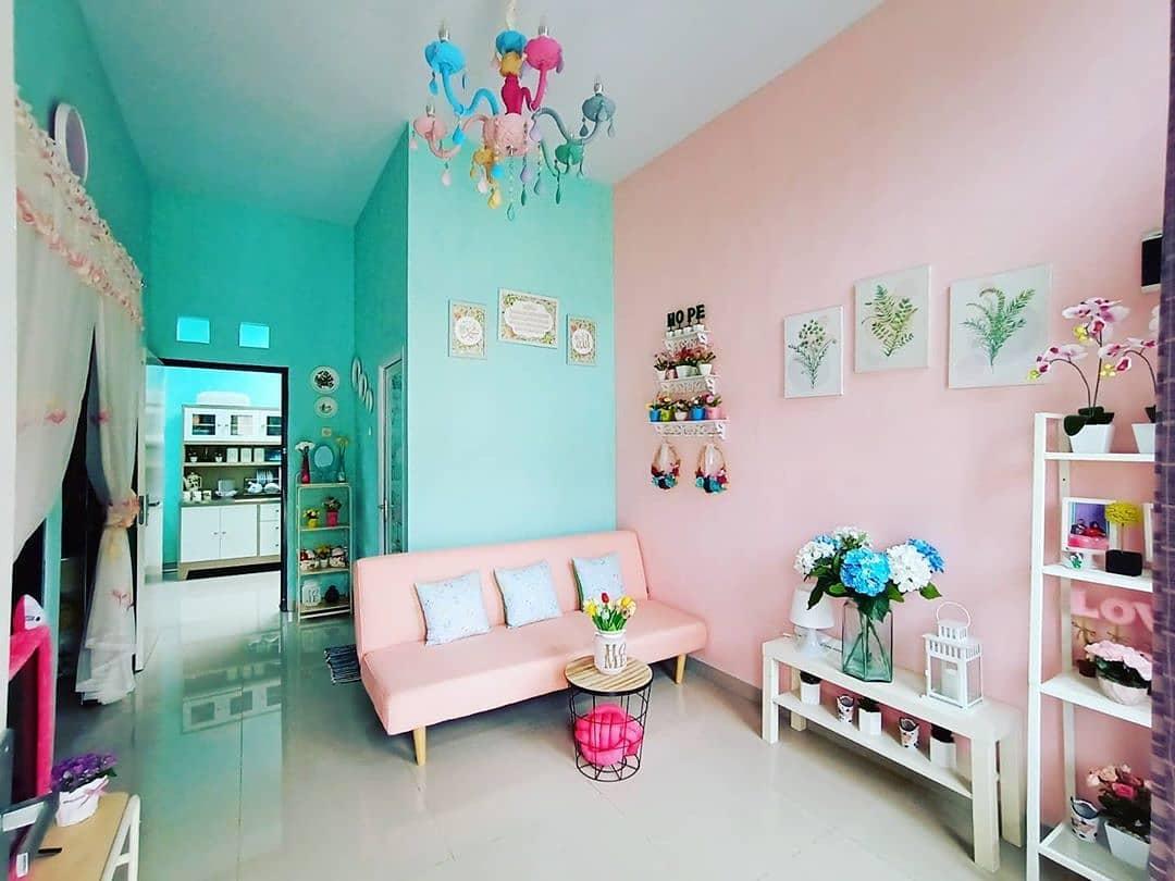 Kombinasi Warna Cat Tembok Ruang Tamu Yang Bagus Terbaru