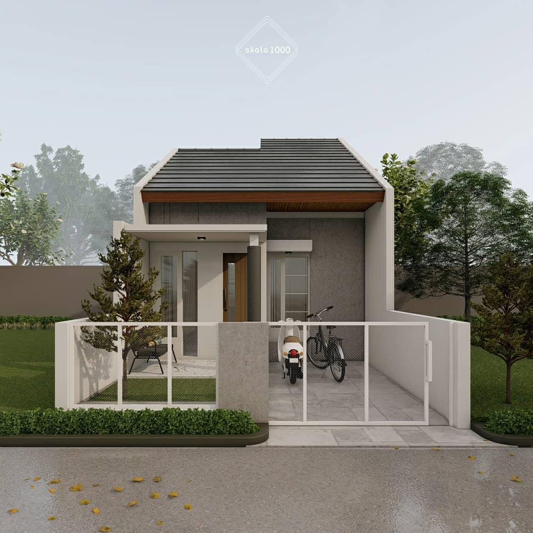 Model Rumah Minimalis 1 Lantai Tampak Depan