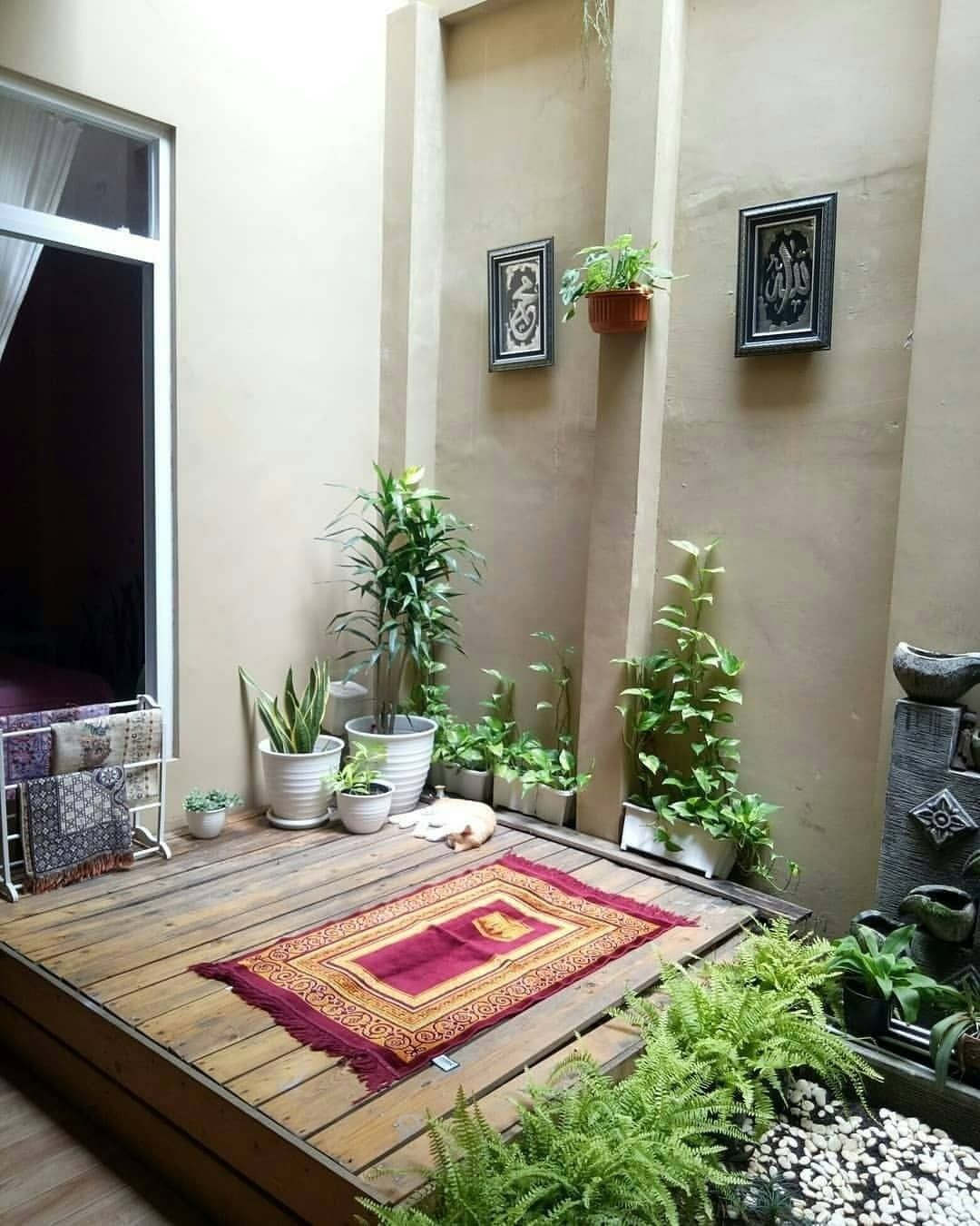 Mushola Mini Sederhana Dekat Dengan Taman
