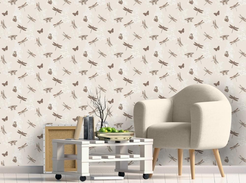 Wallpaper Dinding Ruang Tamu Minimalis Motif Binatang