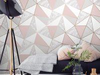 Wallpaper Dinding Ruang Tamu Minimalis Motif Zara Marble Metallic Wallpaper Soft Pink Rose Gold