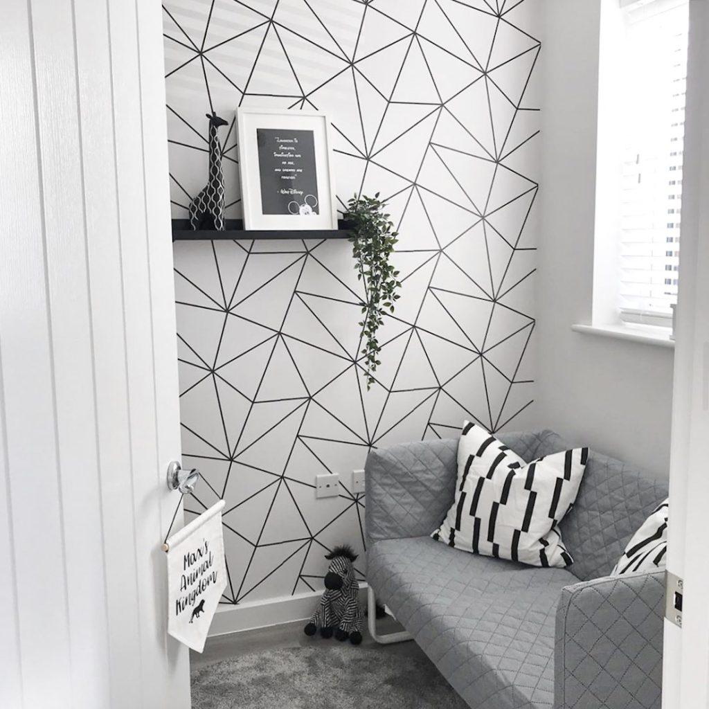 Wallpaper Dinding Ruang Tamu Minimalis Motif ZaraMono