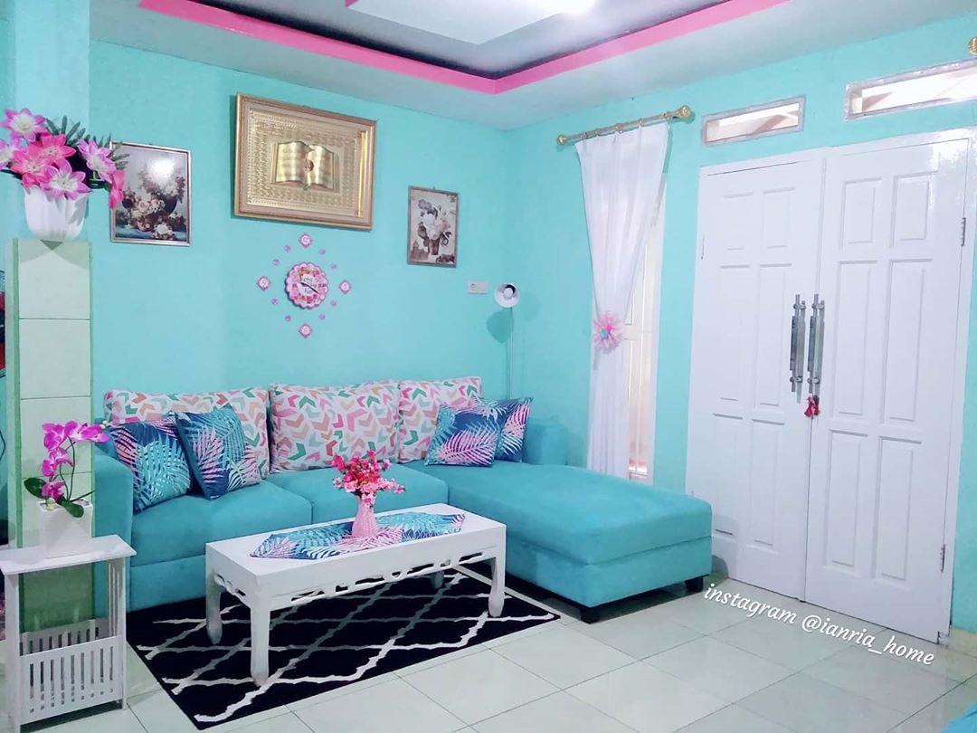 Warna Cat Tembok Ruang Tamu Yang Bagus Warna Biru Muda