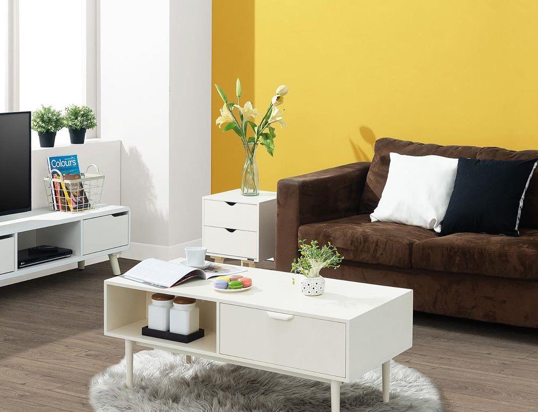Warna Cat Tembok Ruang Tamu Yang Bagus Warna Kuning