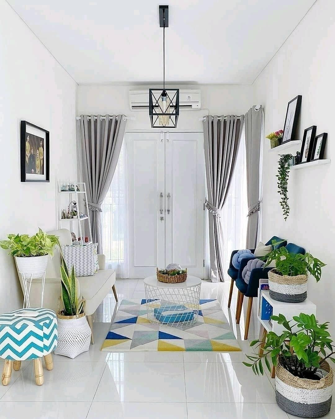 Warna Cat Tembok Ruang Tamu Yang Bagus Warna Putih Nampak Lebar
