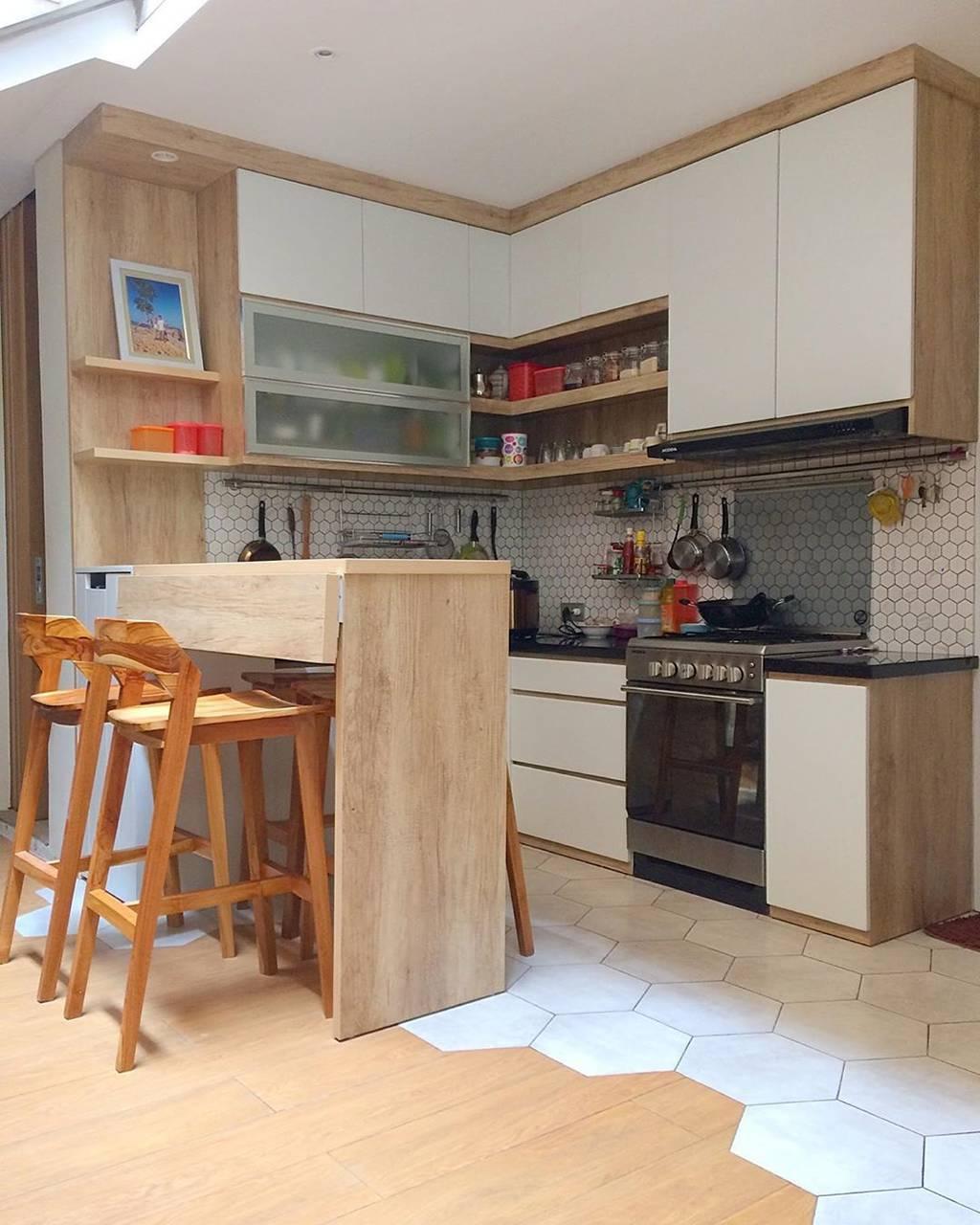 Desain Kitchen Set Minimalis Dapur Kecil Nampak Modern Mewah
