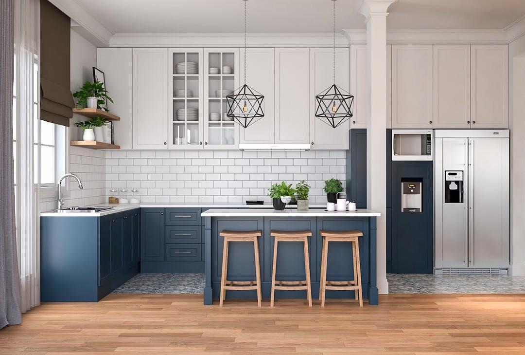 Desain Kitchen Set Minimalis Gaya Amerika SA House
