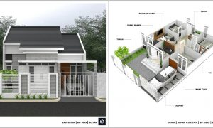Gambar Denah Rumah Minimalis 3 Kamar Tidur 1 Lantai Terbaru Beserta Keterangannya