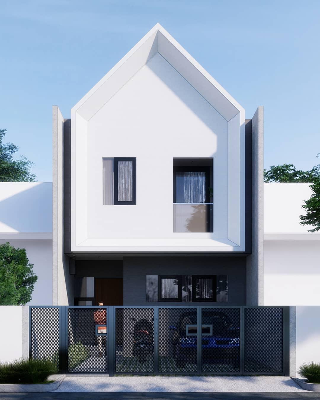 Contoh Rumah Minimalis 2 Lantai Modern Tampak Depan