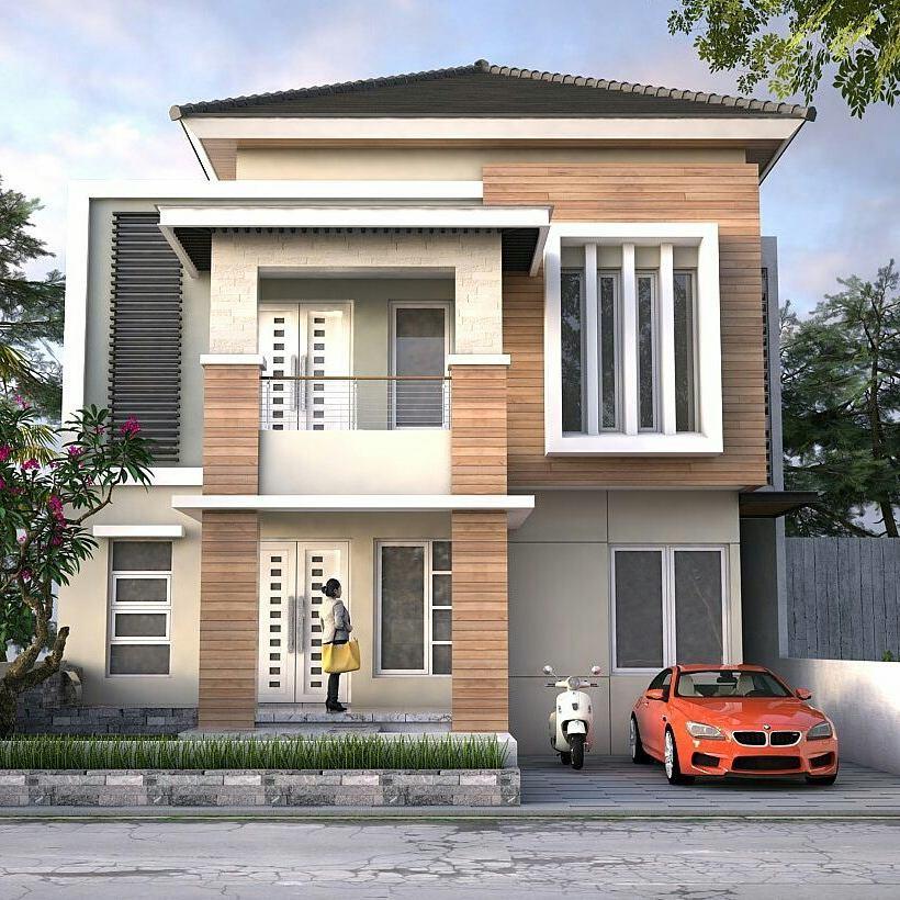 Desain Rumah 2 Lantai Minimalis Tampak Depan Terbaru